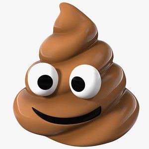 3D Smiling Face Poop Emoji Smile