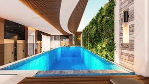 Hotel Recepion design 3D model