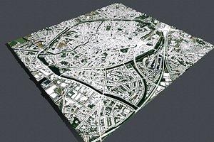Cityscape Brugge Belgium 3D model