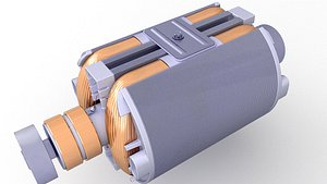 3D model rotor electric motor