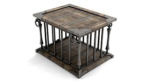 ancient wooden cage model
