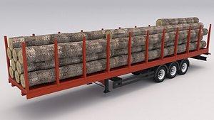 3D model Timber Trailer