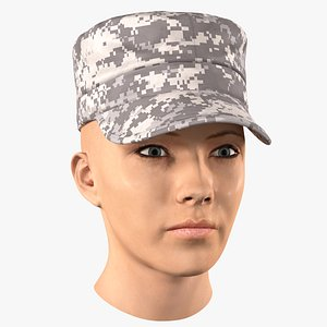 3D female soldier head model