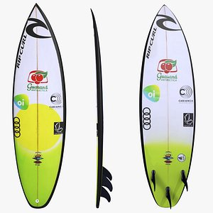 Surfboard Gabriel Medina 3D model
