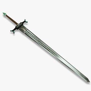 3D Fantasy Sword  for subdivision
