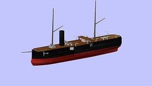 ottoman ironclad 3D