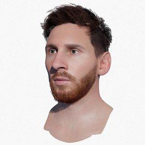 3D model Lionel Messi Head 3d model