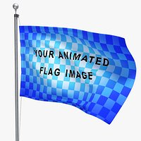 Loop Flag Animation with Pole