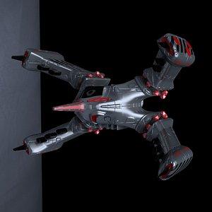 3D space ship x