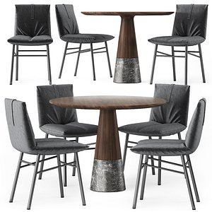 Pil chairs and Echo Table 3D model