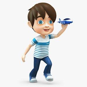 3D boy baby cartoon model