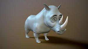 rhino cartoon 3D model