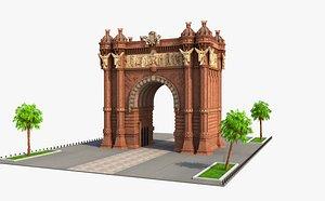 Arc de Triomf Barcelona 3D model