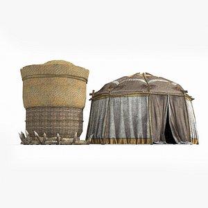 3D model tent yurt