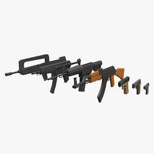 3D model gun weapon firearm