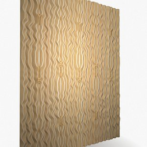 3D model plywood river waves decor