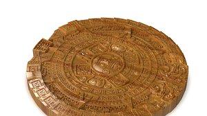 3D cnc mayan calendar