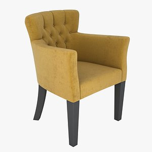 armchair quilted chair 3D model