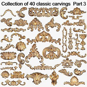 3D Collection of 40 classic carvings Part3