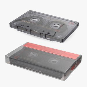 3D model TDK D90 Cassette Tape with Box
