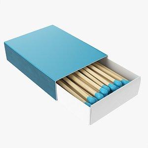 Box of matches 02 3D model