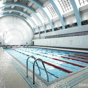 modular swimming pool 3D model