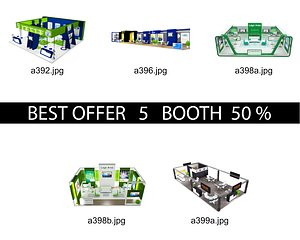 3D Booth Exhibition Stand c12 model