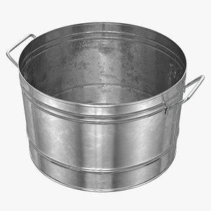 3D Galvanized Steel Round Tub