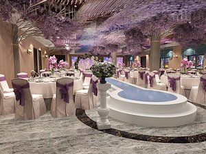 3D Wedding hotel wedding wedding scene wedding scene exhibition banquet hall beautiful Chen layout d model
