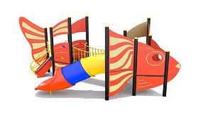 playground play fish 3D model