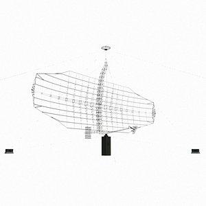 3D model Low Poly P14 Tall King Radar