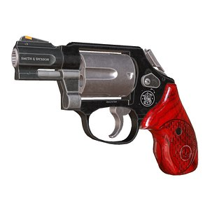 Smith and Wesson - Revolver 3D model