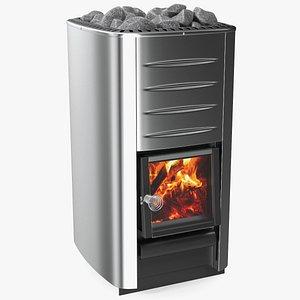 Wood Burning Sauna Heater 3D model