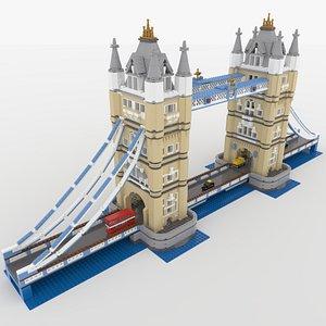 3D lego tower bridge model