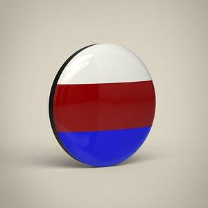 3D Russian Federation Badge model