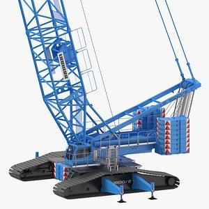 3D liebherr crawler crane lr