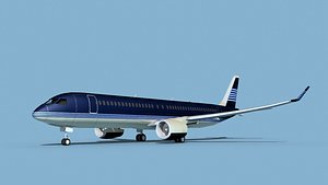 Airbus A220-300 Corporate 4 3D model