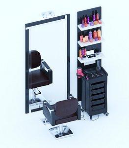 3D Hairdressing salon