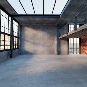Industrial Loft Interior Scene model