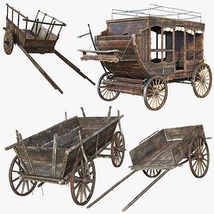 3D Wooden Vehicles