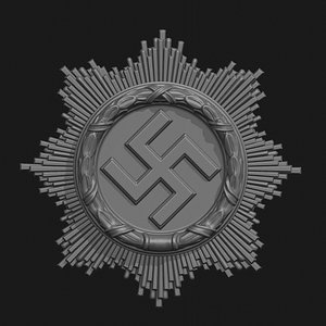 wwii german badge 3D