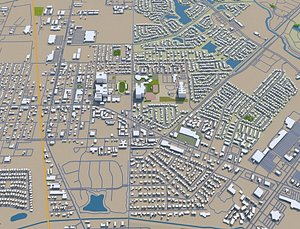 Pearland Texas USA 3D model