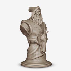 Knight Keeper of the Light Dota 2 Chess Piece model