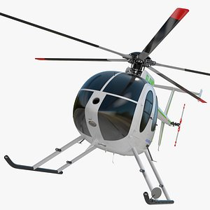 MD 500E Light Helicopter Exterior Only 3D model