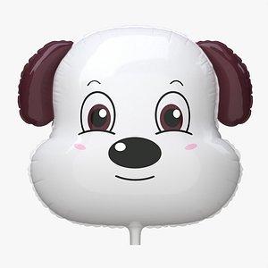 3D model Decoration foil balloon 02 Dog