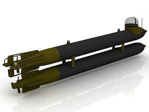 3D G7e T1 German WW2 Torpedo