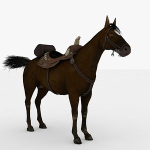 3D Brown Horse Rigged