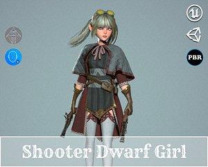 3D Shooter Dwarf Girl