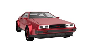 3D model DeLorean DMC-12