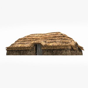 3D old fashioned thatched model
